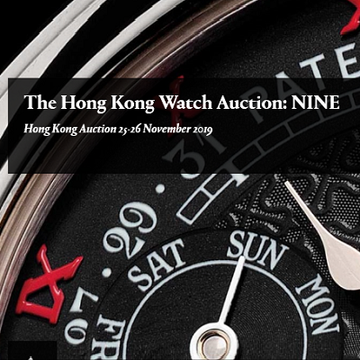 The Hong Kong Watch Auction: NINE Hong Kong Auction 25-26 November 2019 OldTime24